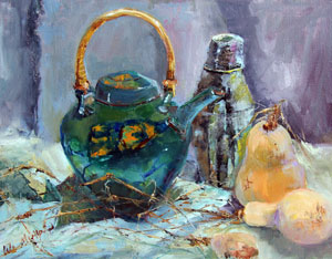 Teapot with Butternut Squash